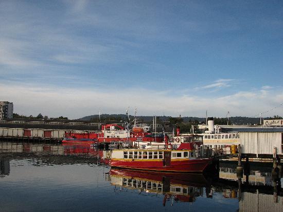 Hobart, Australia: Red boats at the wharf area