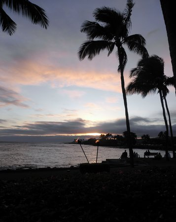 Kapaa, Hawái: Beach House Sunset