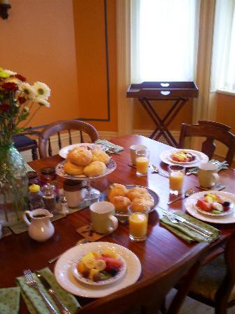 Chez Hubert, B&B: Petit déjeuner