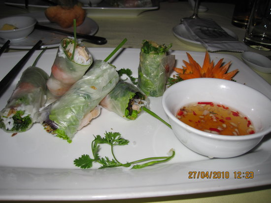Hoa Sua Training Restaurant: Fresh spring rolls
