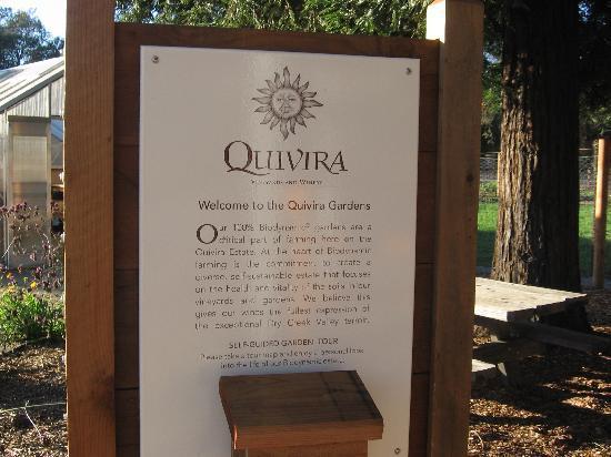 Quivira Vineyards: Garden explantaion - organic