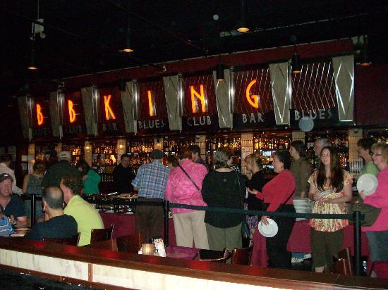 B.B. King Blues Club : The Buffet line at B.B. Kings