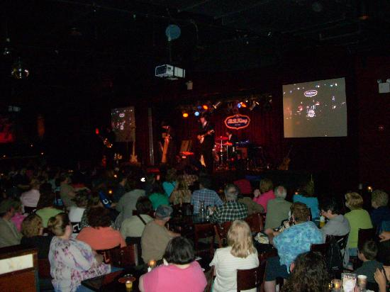 B.B. King Blues Club : The seating is pretty tight on the main floor of the club.
