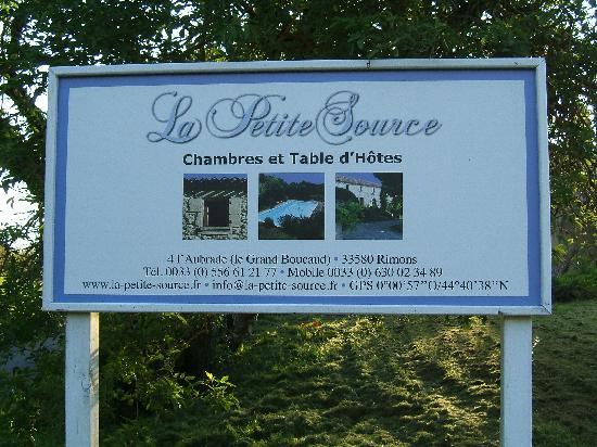 Rimons, França: La Petite Source