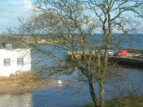 Anstruther, UK: View over the Dreel Burn from our room