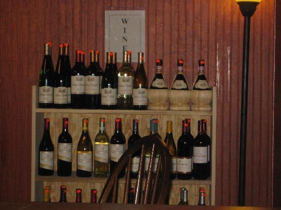 North Shire Lodge & Mountain View Pub: Wine seleccion