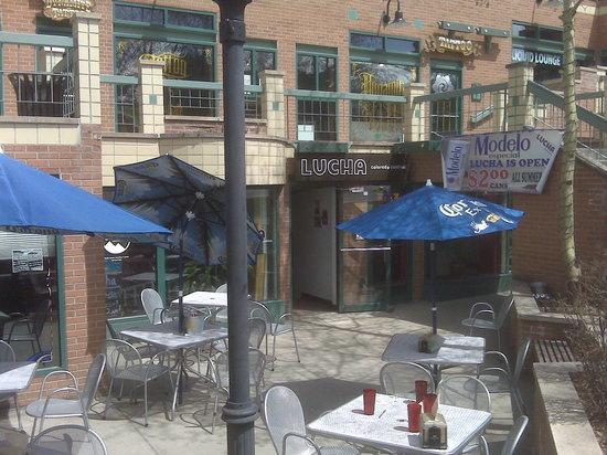 Sun-soaked patio at Lucha Colorado Cantina, Breckenridge
