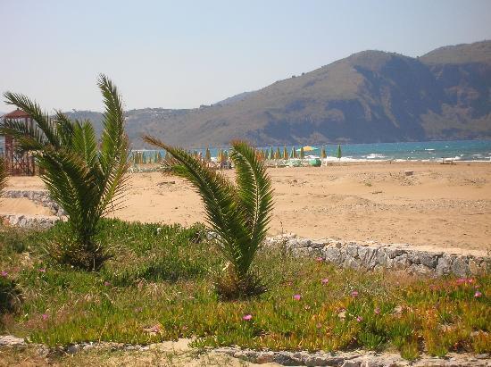 Georgioupolis, Grécia: la plage de l'hotel