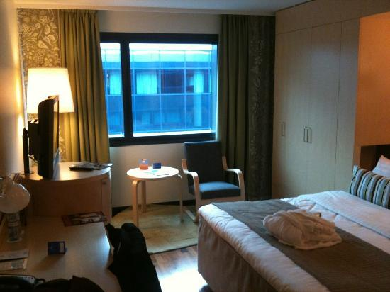 Hilton Helsinki Airport: Room view#1 (sorry about bad iPhone image quality)