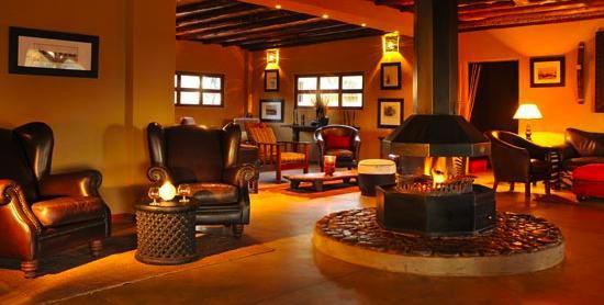 Zebra Kalahari Lodge: The lounge in the Zebra Lodge & Spa, main building