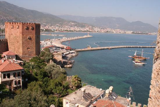 Long Beach Resort Hotel & Spa: Antalya castle view over harbour