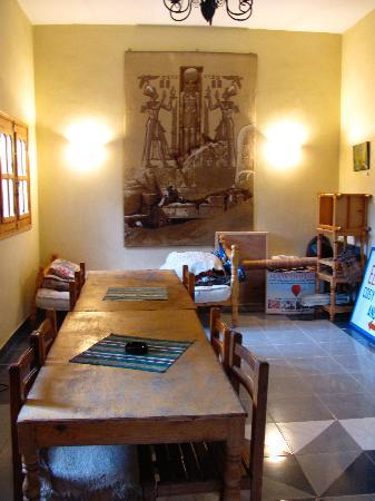 Communal reading / office / internet room in El Fayrouz.