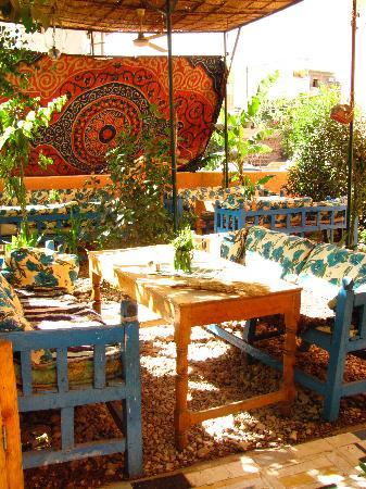Beautiful garden restaurant of El Fayrouz - fave place to lounge after a long day of sightseeing
