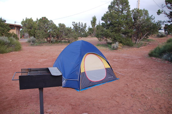 Saddlehorn Campground: There were better sites further from the bathhouse.