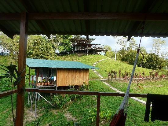Finca Maresia: bungalow et salle de reception en hauteur