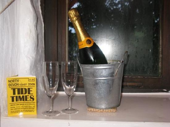 Vale Cottage Bed and Breakfast: Can't forget the Tide times!