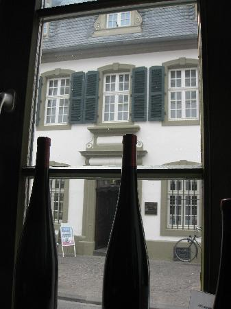 Das Weinhaus: View of the Karl Marx house from inside..