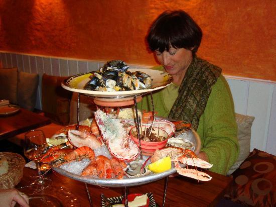 Dieulefit, Франция: plateau de fruits de mer