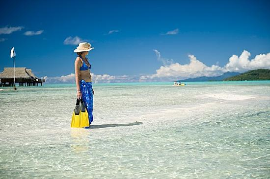 Vahine Island Resort & Spa: PLAGE & SNORKELING