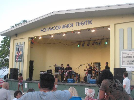 Hollywood Beach Bandshell~live music nightly 7-9 pm
