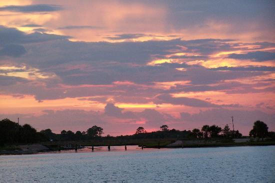 Sunset pic taken from Seahorse Landing dock