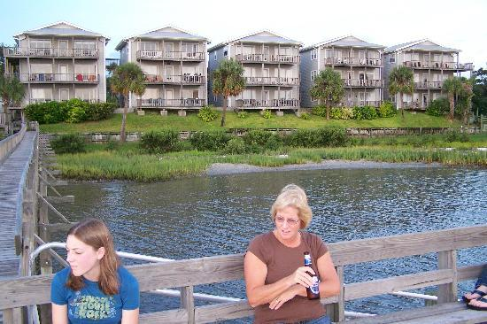 Seahorse Landing: Condo units as seen from the dock
