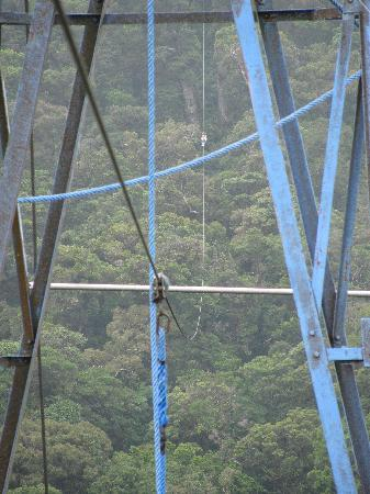 Santa Elena, Costa Rica: zip line coming into the platform