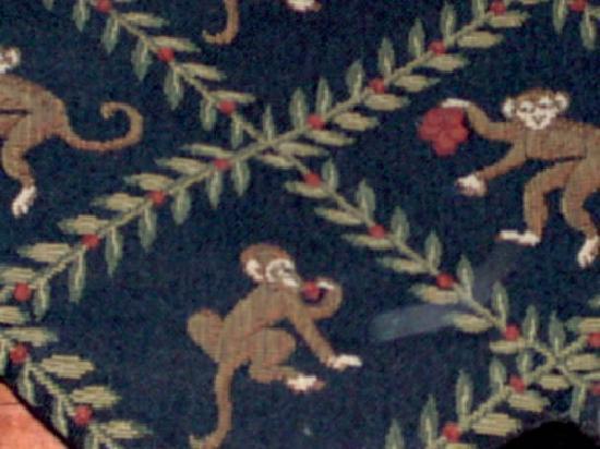 monkey curtains @ Clifton House Inn