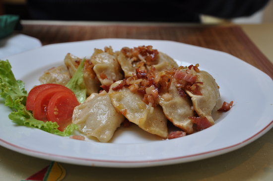 Gniezno, Polen: pierogi with cabbage and mushroom