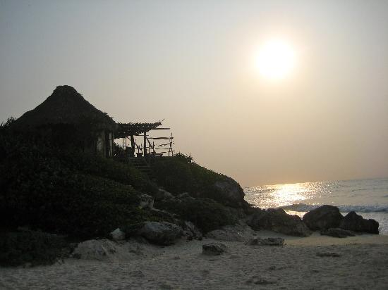 Cabanas Copal: The beach at Azulik