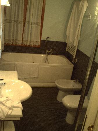 Ca' Satriano: El baño con secador de pelo
