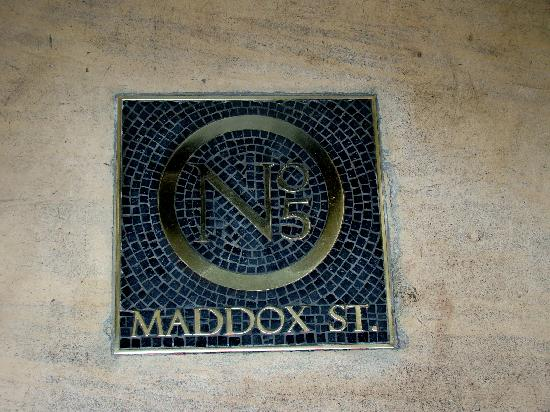 No. 5 Maddox Street: at the entrance