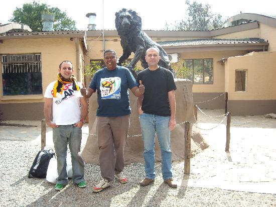 Greater Johannesburg, South Africa: With Mthandeni at Lion Park