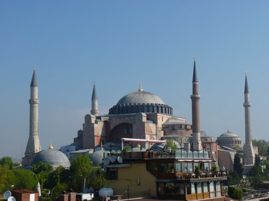 Cosmopolitan Park Hotel: Hagia Sophia from the Roof