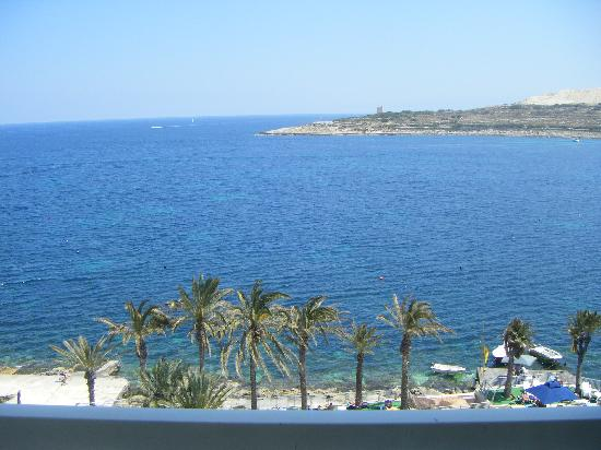 Qawra Palace Hotel: sea view from our balcony