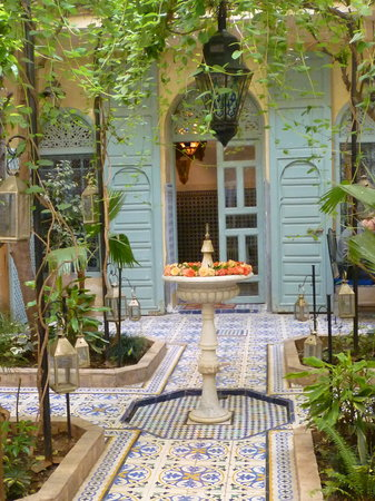 Patio Avec Fontaine Photo De Riad Al Nour Marrakech Tripadvisor