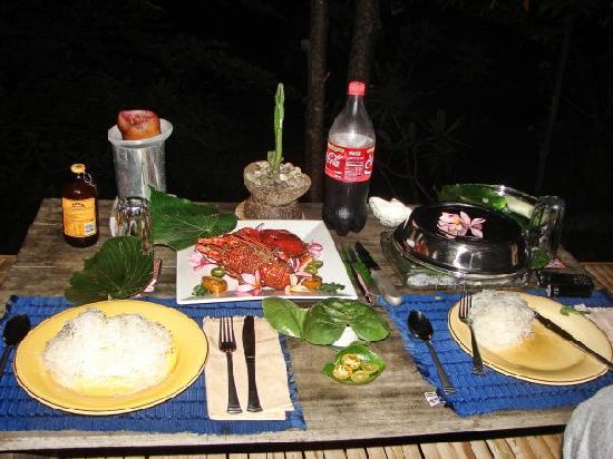 Boracay Private Mt. Casitas Villa : Our dinner prepared by Esther