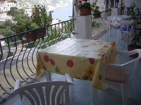 Venus Inn B&B Positano: La terrasse de notre chambre