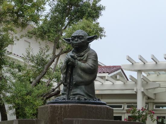 San Francisco, CA: Yoda fountain.