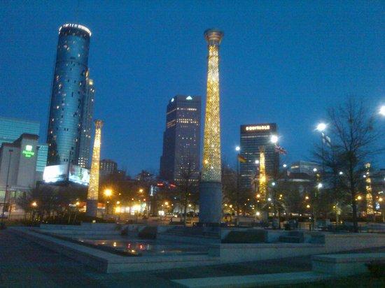 Omni Atlanta Hotel at CNN Center: View of downtown ATl