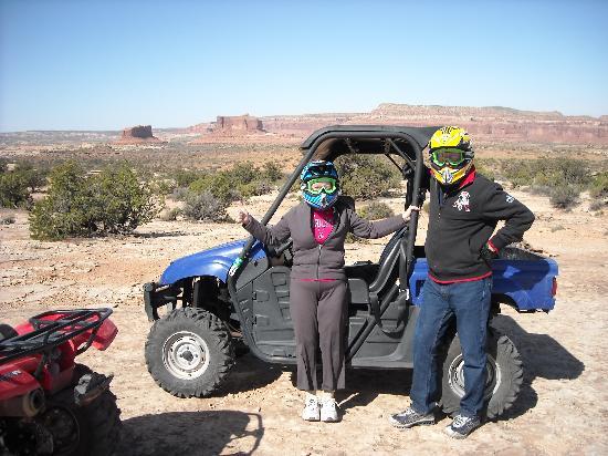 Moab, UT: Enjoying our ATV tour.