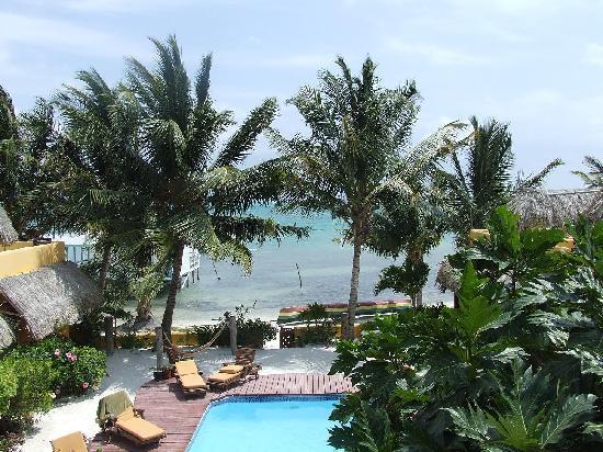 Seaside Cabanas: View from walkway