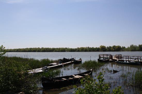 Danube Delta: Danube at Sfantu' Gheorghe - a small town