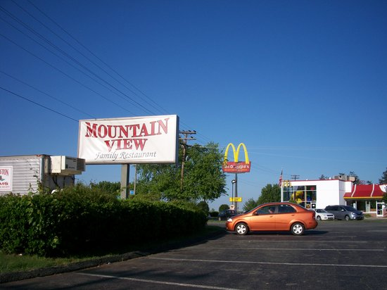 Mountain View Restaurant: sign outside