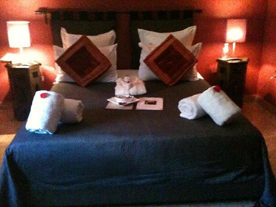 Dar Selwan Wellness & Spa : Our bed!