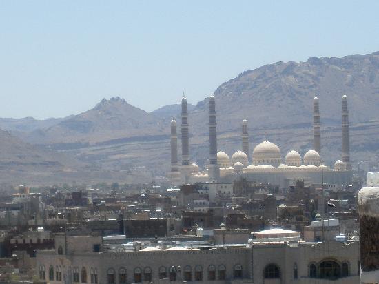 Sanaa, Yémen : a veiw from top of building in old sana'a