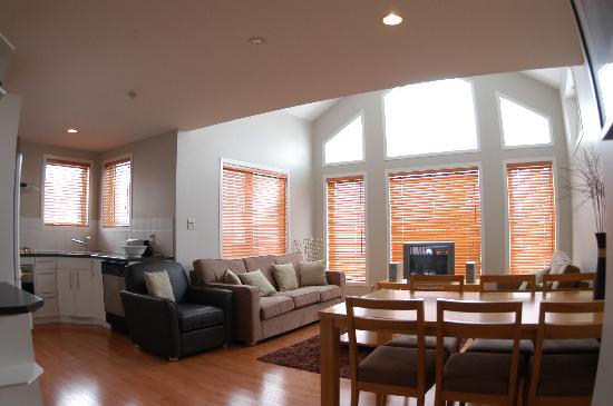 Fresh Powder Apartments Niseko: 15 foot vaulted ceilings in the 3BR  apartment