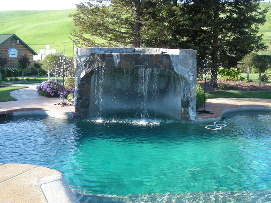 The Purple Orchid Wine Country & Spa : pool and waterfall