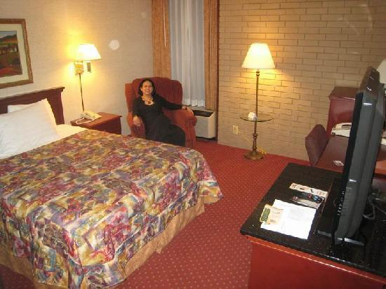Drury Inn & Suites Atlanta Airport: Room was small but adequate with small window
