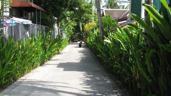 Baan Chaweng Beach Resort & Spa: Hotel entrance from main road